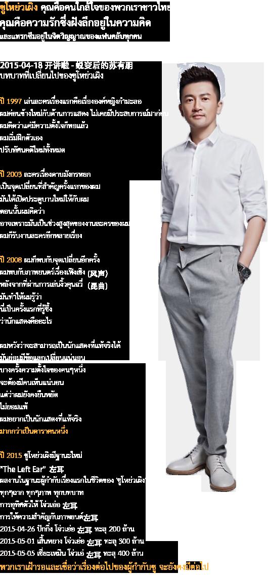 Welcome to SuYouPeng Thaifans